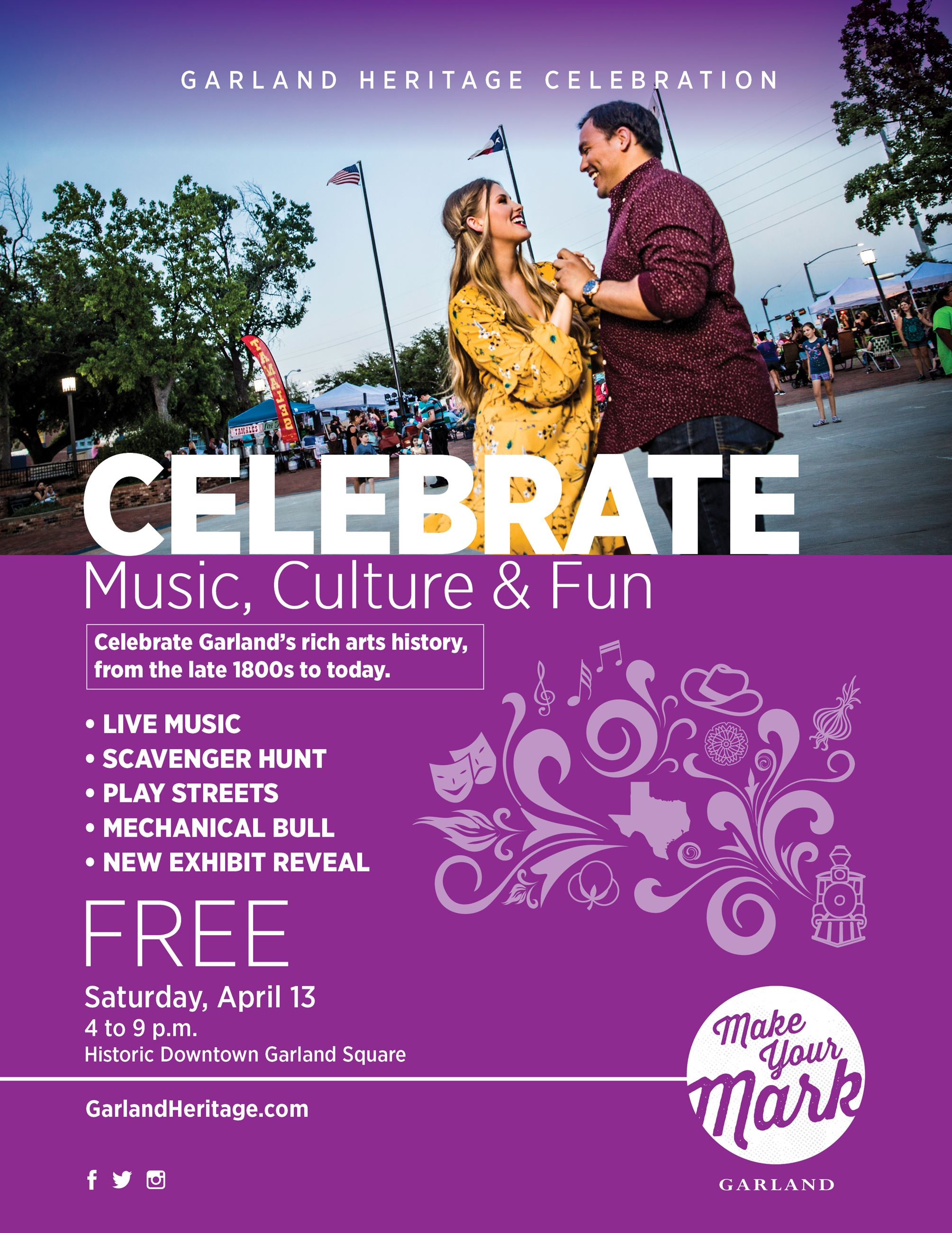 Garland Heritage Celebration 2019 Flier